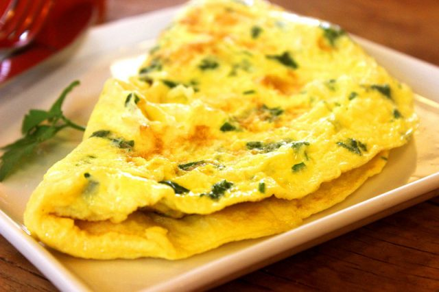 Omelette basse température