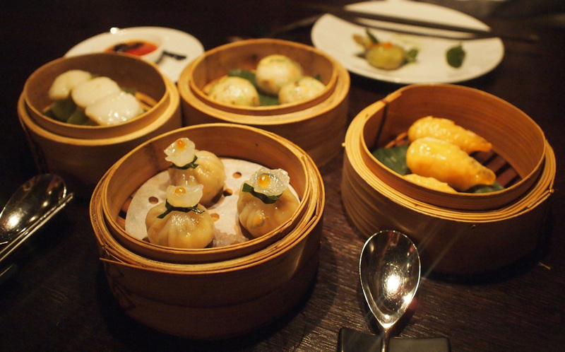 Raviolis chinois cuits à basse température