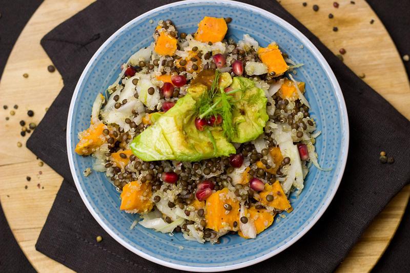 Recette Cuisson Douce Taboulé De Quinoa Et Salade De Lentilles
