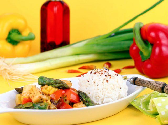 Cuisine saine au wok